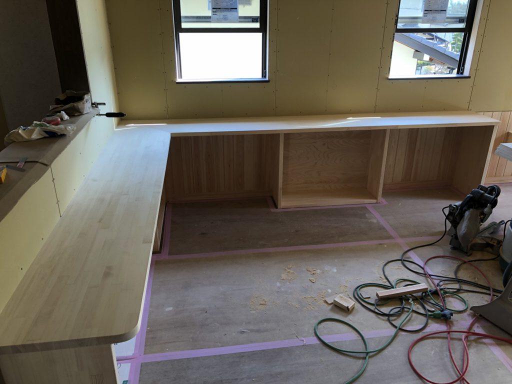 土岐市 新築 キッチンカウンター 多目的スペース